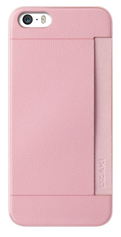 Ozaki O!coat 0.3+ Pocket (OC547PK) - чехол для iPhone 5/5S/SE (Pink)