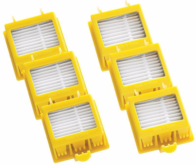 Фильтры для iRobot Roomba 700-й серии 6 шт (Yellow)