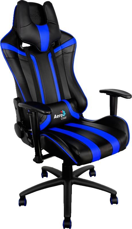 Кресло игровое Aerocool AC120 (Black/Blue) cougar armor black orange игровое кресло