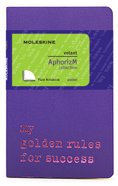 Moleskine Volant My golden rules for success QP713H/2GR