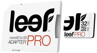 Leef PRO microSDHC 32Gb UHS1 (LFMSDPRO-03210R) - карта памяти с адаптером (White)