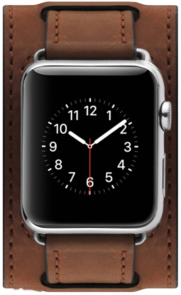 Сменный ремешок Cozistyle Wide Leather Band (CWLB12) для Apple Watch 42mm (Brown)