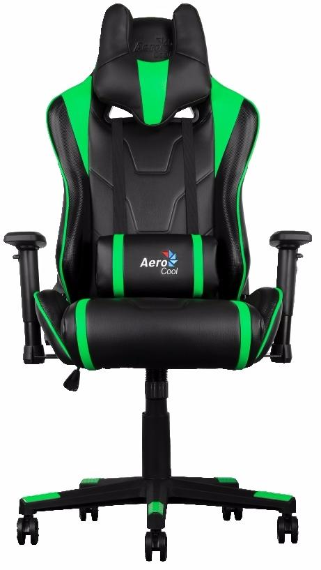 Aerocool AC220-BG - игровое кресло (Black/Green) arozzi torretta orange v2 игровое кресло