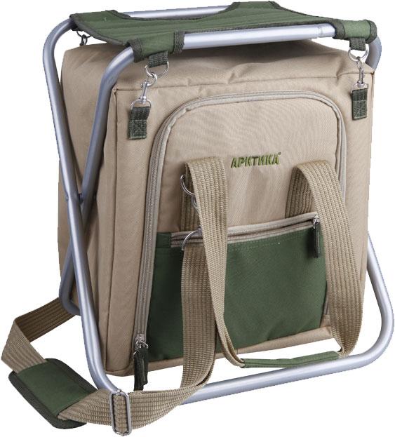 Арктика 20 л (3500-1) - сумка-холодильник со складным стулом (Бежевый/Зеленый)