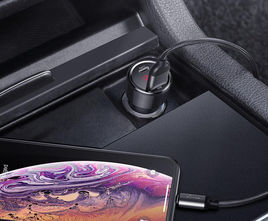 Автомобильное зарядное устройство Baseus Magic Series CCMLC20C-01 (Black)