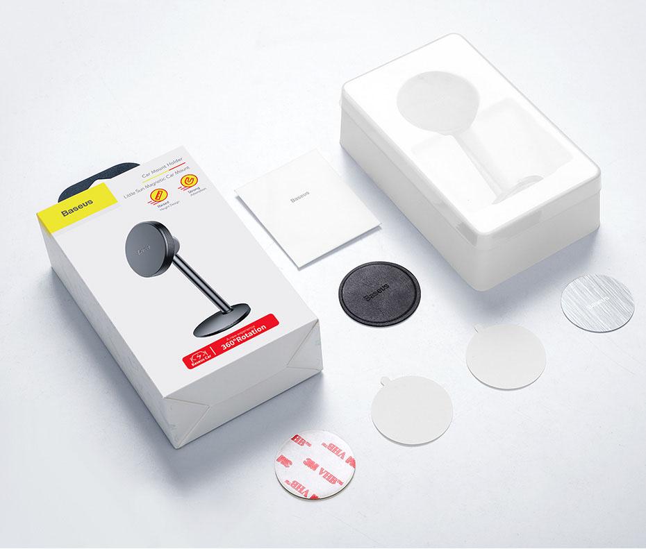 Держатель Baseus Little Sun Magnetic SUTY-0S (Silver)