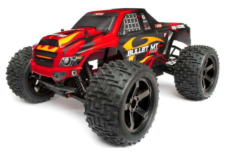 HPI Bullet MT Flux 4WD 1:10 - радиоуправляемый автомобиль (Red) hpi trophy truggy flux brushless 4wd 2 4ghz