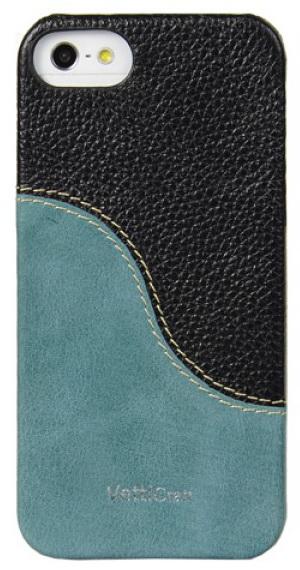 Vetti Craft Prestige LeatherSnap (IPO5LESBKLCLBVT) - чехол для iPhone 5 (Black & Vintage Lake Blue)