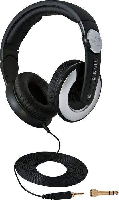 Sennheiser HD 205 II (504292) - накладные наушники (Black)Накладные наушники<br>Накладные наушники<br>