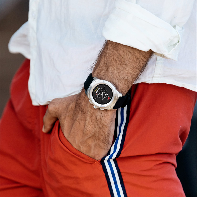 Смарт-часы MyKronoz ZeTime Original Regular (Matte Silver/Black)