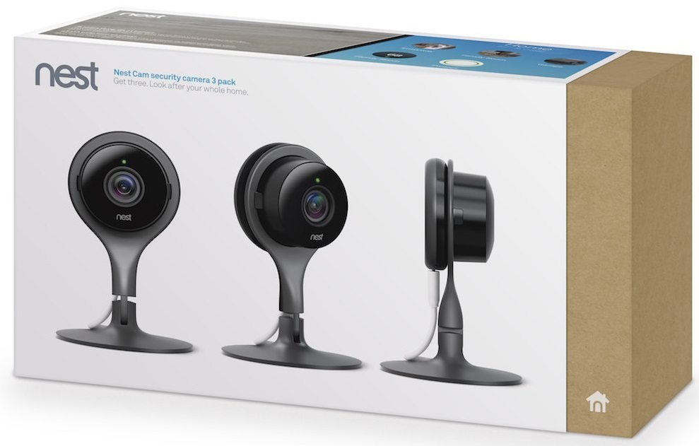 nest Nest Cam Security Camera 3 Pack – комплект камер видеонаблюдения (Black)