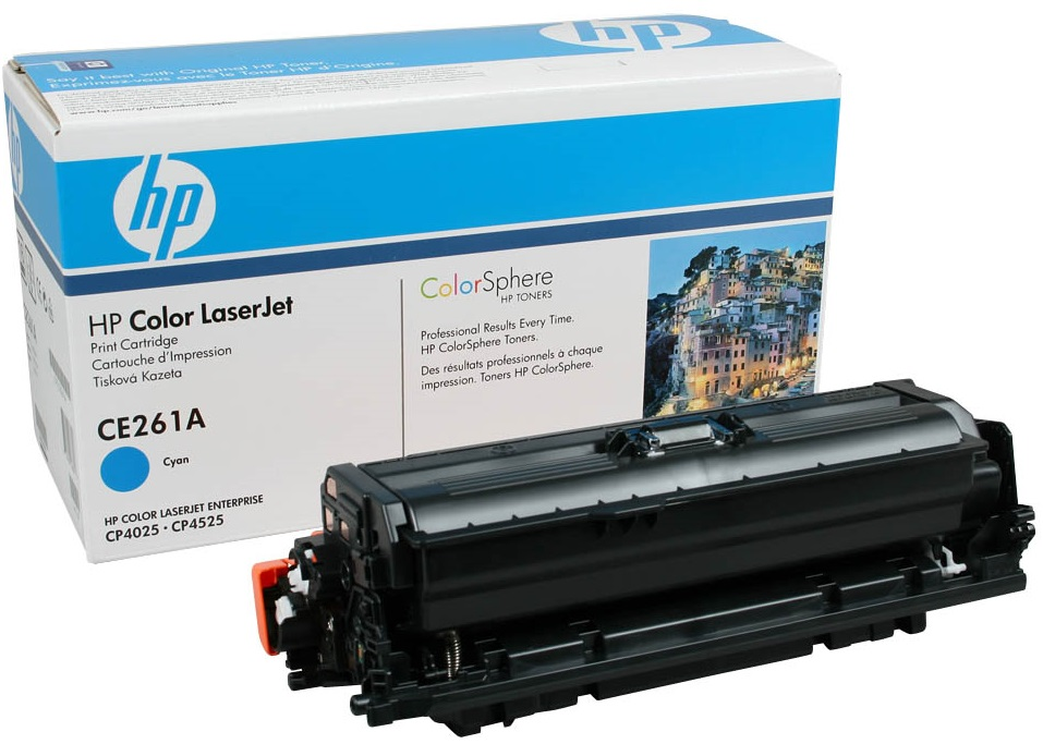 HP CE261A - картридж для принтеров HP Color LaserJet CP4025/CP4525 (Blue)Картриджи и тонеры<br>Картридж<br>