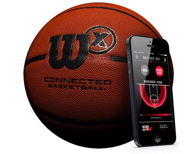 Wilson X Connected Smart Basketball - баскетбольный мяч с отслеживанием бросков (Orange)