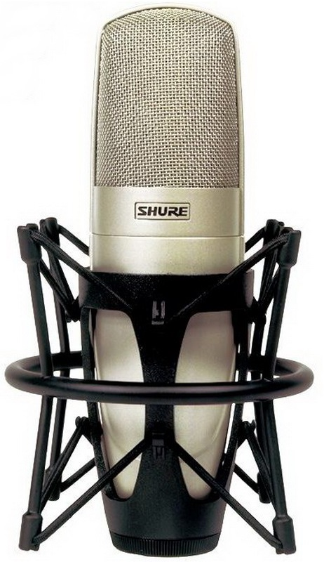 Shure KSM32/SL (53581) - студийный кардиоидный конденсаторный микрофон с алюминиевым кофром и гибким креплением (Champagne)Профессиональные микрофоны<br>Студийный конденсаторный микрофон<br>