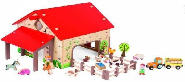 Janod Веселая ферма (J06483) - игровой набор (Мulticolor)Деревянные игрушки<br>Игровой набор<br>
