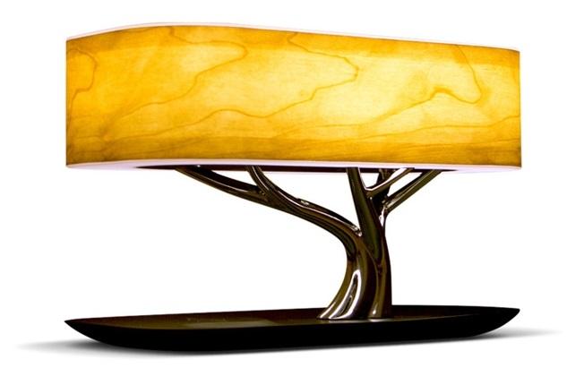 Умный светильник HomeTree Light Of the Tree с беспроводной зарядкой (Yellow)