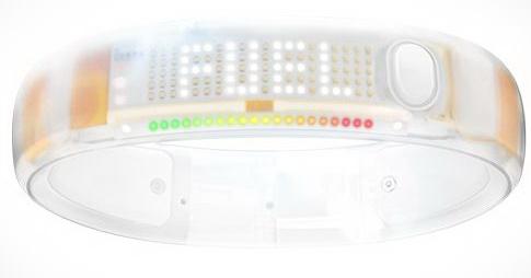 Nike FuelBand L (20 см) - инновационный браслет для iPhone/iPod/iPad (White Ice)