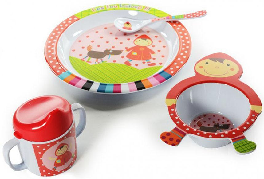 EbuLobo Красная шапочка (04EB0016) - детский набор посуды из 4 предметов