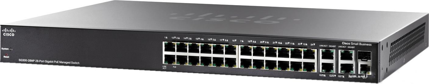 Cisco SG300-28MP - стекируемый управляемый коммутатор SG300-28MP-K9-EU