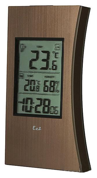 Ea2 ED602 - термометр с часами (Brown)