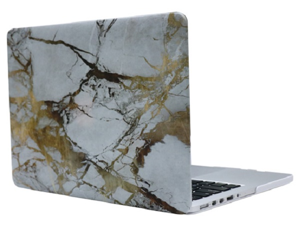"i-Blason Ultra Slim Cover - чехол-накладка для MacBook Pro 13"" 2016 (White/Gold Marble)"