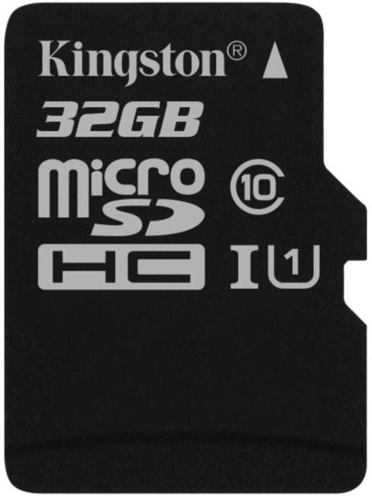 Kingston microSDHC 32Gb Class 10 U1 UHS-I (SDC10G2/32GBSP) - карта памяти