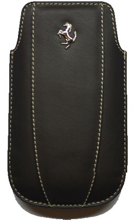 Ferrari Sleeve (FEMOIPBL) - чехол для iPhone 4\4S (Modena Black) от iCover