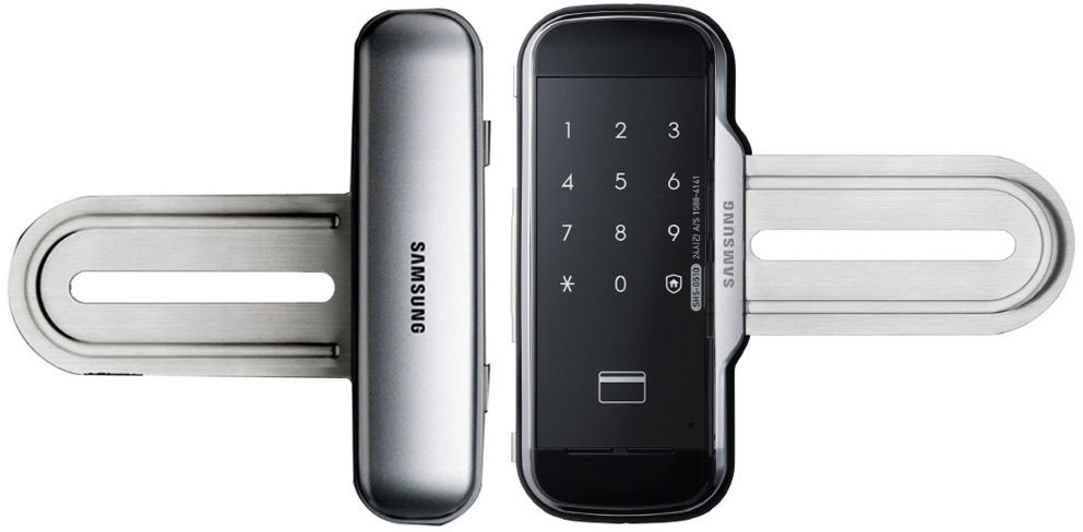 """Samsung SHS-G517+ASR-200 - комплект """"распашная дверь крепление под ручки"""" для стеклянных дверей (Black)"""