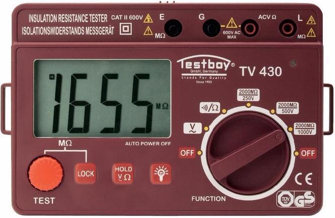 Testboy TV 430N - прибор для проверки сопротивления изоляции (Red)