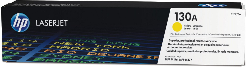 HP 130A (CF352A) - картридж для МФУ HPLaserJet Pro M153/M176/M177 (Yellow) чернильный картридж hp 130 c8767he black