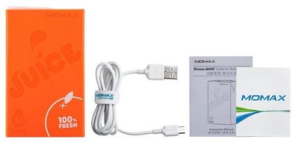 Momax iPower Juice 10000мАч - внешний аккумулятор (Orange)