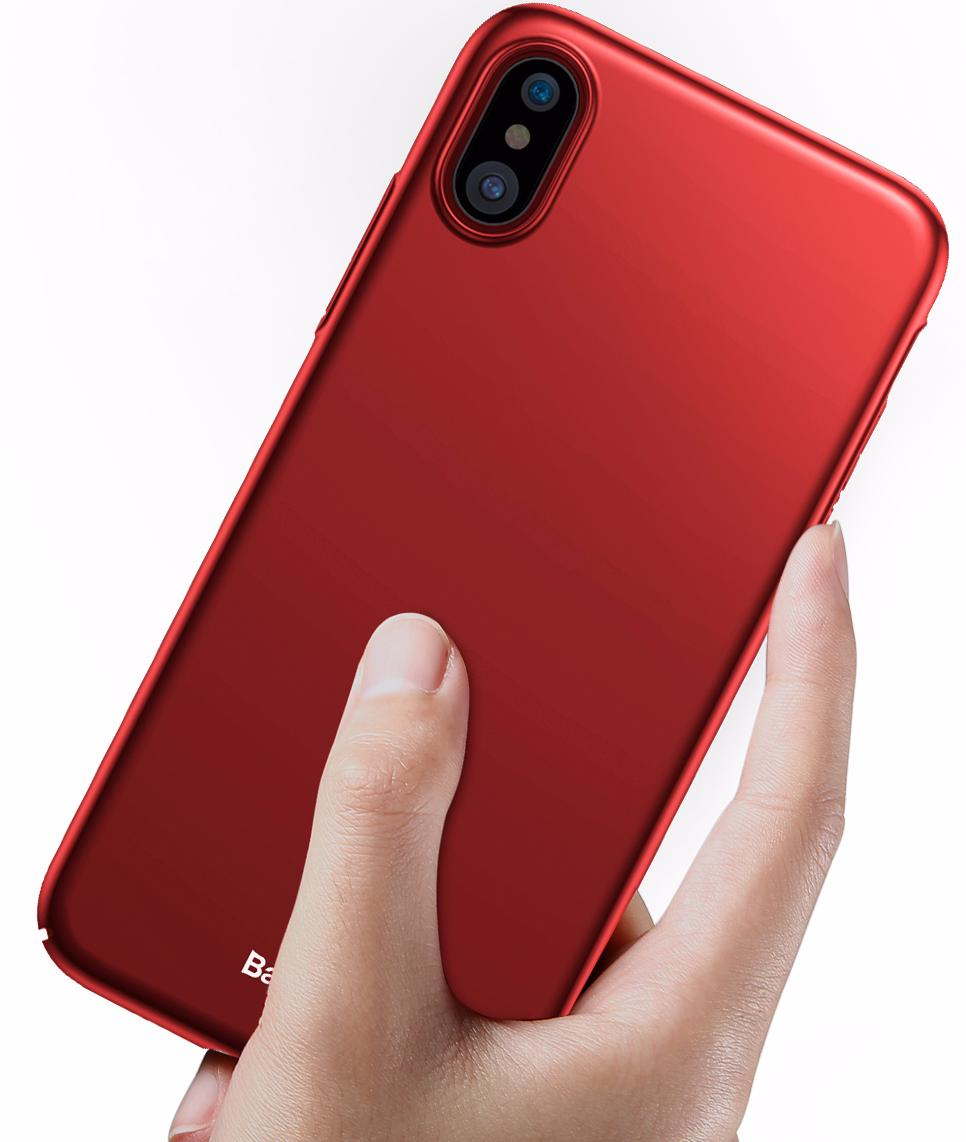Чехол-накладка Baseus Thin Case (WIAPIPHX-ZB09) для Apple iPhone X (Red)