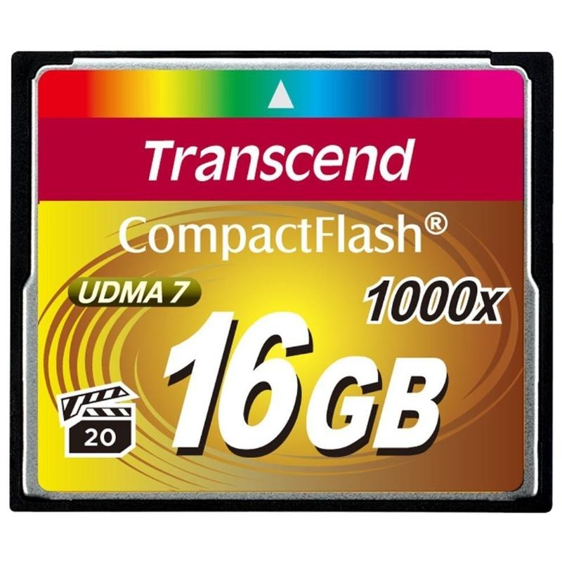 все цены на  Transcend Compact Flash Ultimate 1066x 16Gb (TS16GCF1000) - карта памяти (Yellow)  онлайн