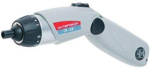 Интерскол ОА-4,8 - отвертка аккумуляторная (Grey) 46.0.0.01