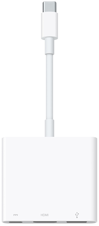 Адаптер Apple USB-C Digital AV Multiport (MJ1K2ZM/A) от iCover