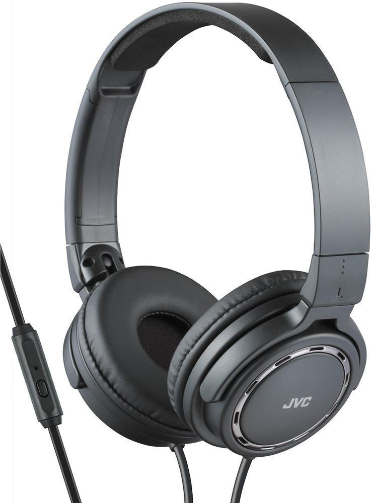 JVC HA-SR525-B - накладные наушники с микрофоном (Black)