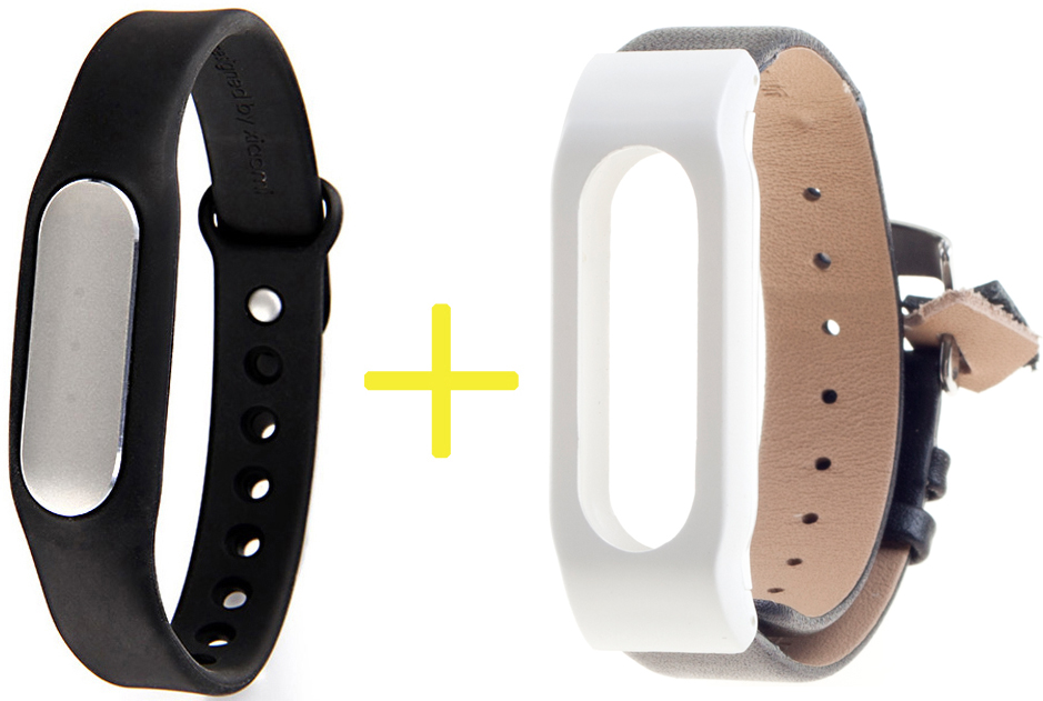Xiaomi Tech Mi Band with Leather Wrist Band нд