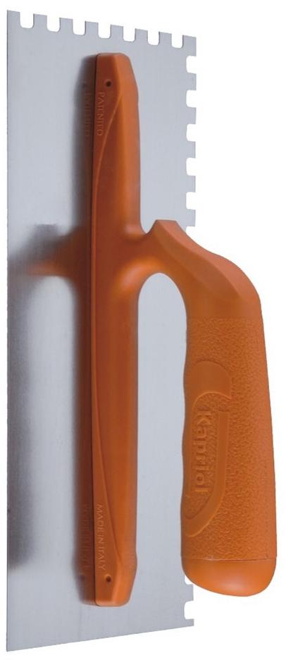 Kapriol зуб 10 мм (23012) - зубчатая гладилка с ручкой из стекловолокнаШтукатурные инструменты<br>Зубчатая гладилка с ручкой из стекловолокна<br>