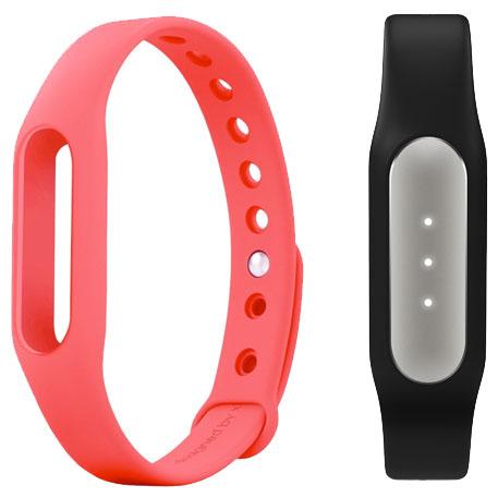 Купить Xiaomi Mi Band - фитнес-браслет + сменный ремешок (Black/Pink)