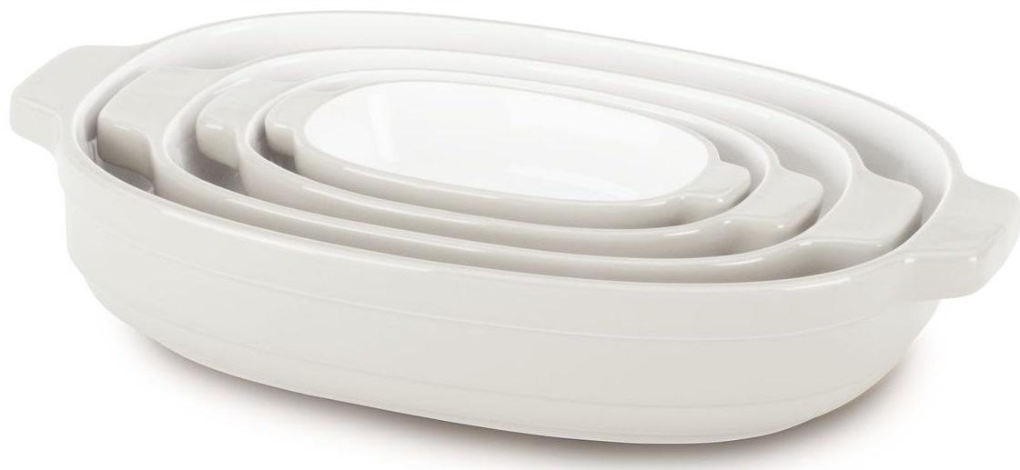 KitchenAid (KBLR04NSAC) - набор из 4 керамических кастрюль для запекания (Cream)