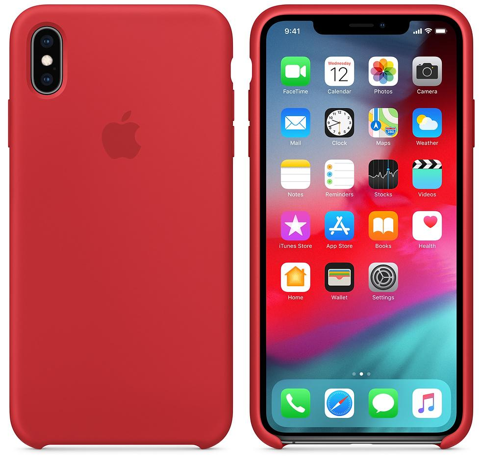 Чехол Apple Silicone (MRWH2ZM/A) для iPhone Xs Max (PRODUCT RED)