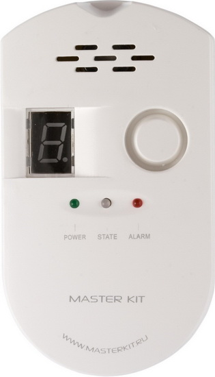 Мастер Кит (MT9035) - датчик утечки газа для системы ОхраняторДатчики и детекторы<br>Датчик утечки газа<br>