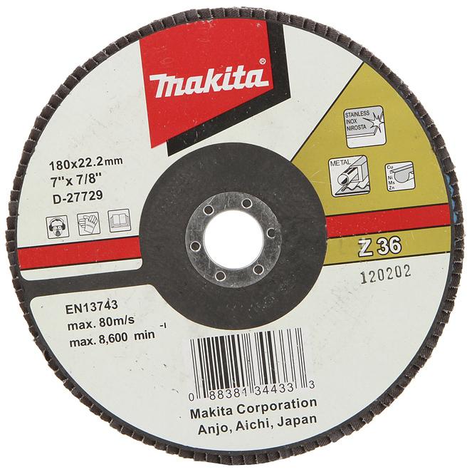Подробнее о Makita Z36 (D-27676) - диск шлифовальный лепестковый диск шлифовальный лепестковый