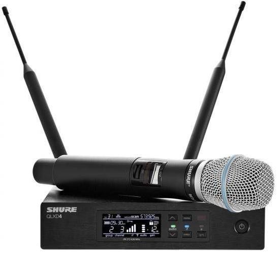Shure QLXD24E/B87A K51(A051388) - вокальная радиосистема с ручным передатчиком (Black)