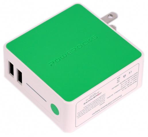 Powerocks Tetris (AC-PR-1A) - дополнительный аккумулятор 3000mAh для iPhone/iPod/iPad (Green)