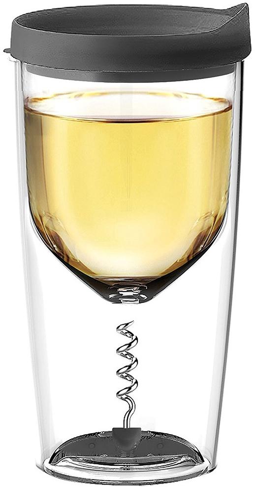 Купить Asobu Vino opener 0.35 л (VOC1) - стакан для вина (Black)