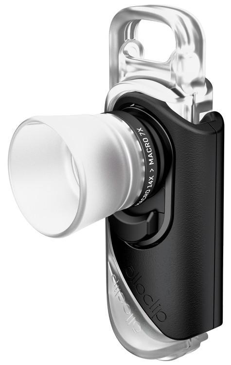 Объектив Olloclip Macro 7x + 14x Lens (OC-0000286-EA) для iPhone 7/8/7 Plus/8 Plus (Black)