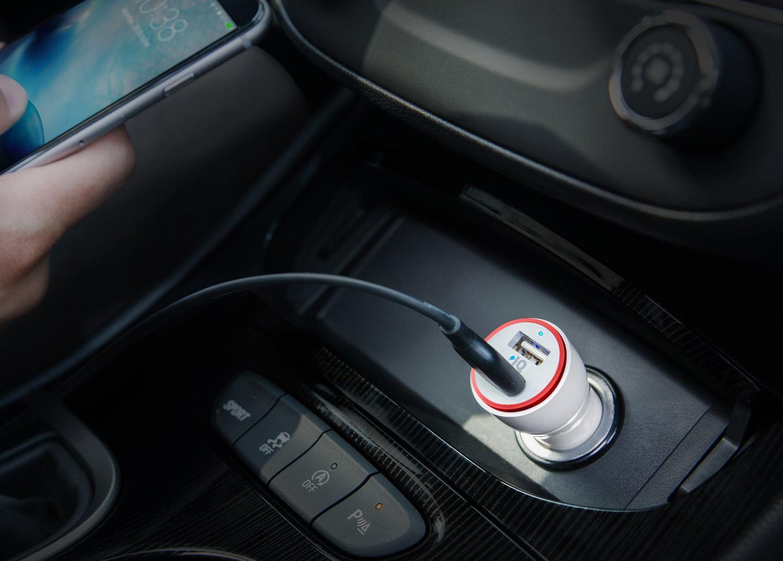 Автомобильное зарядное устройство Anker PowerDrive 2 24W 2port A2310H21 (White)
