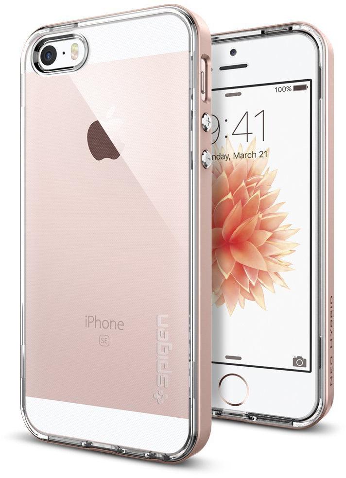 Spigen Neo Hybrid Crystal (041CS20183) - чехол для iPhone 5/5s/SE (Rose Gold)