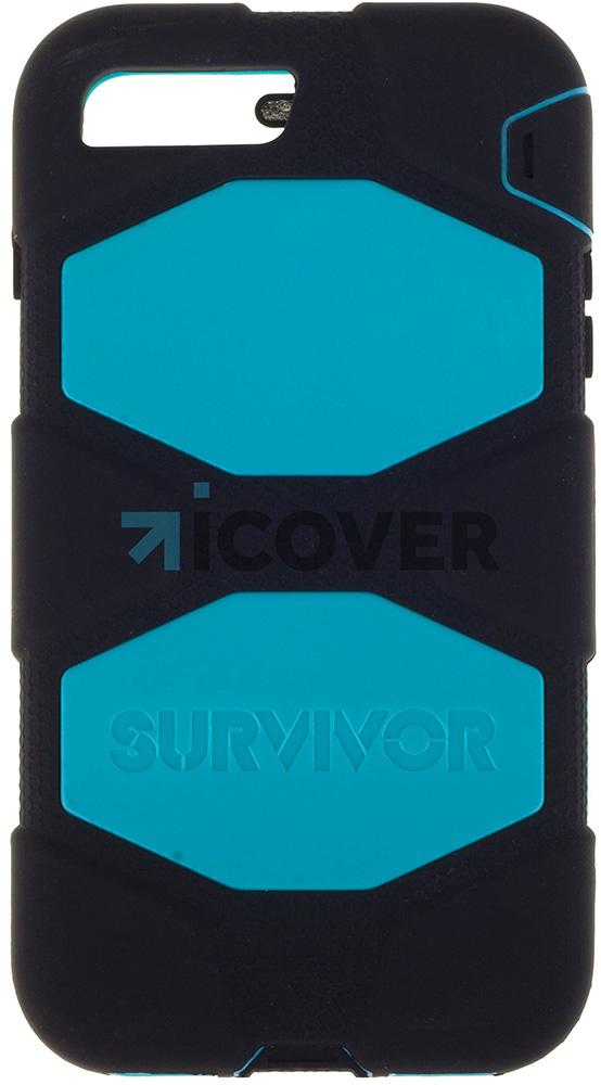 Griffin Survivor - противоударный чехол для iPhone 7 Plus (Black/Light Blue)